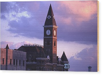 Fayetteville Courthouse Wood Print by Curtis J Neeley Jr