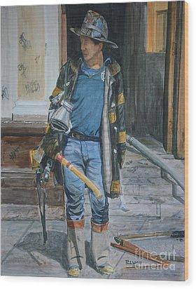 Fdny  Harlem Truckie- Ladder 28 Wood Print by Paul Walsh