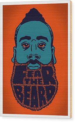 Fear The Beard Wood Print by Jack Perkins