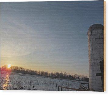 February 28 2013 Sunrise Wood Print