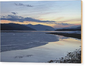 February At Dusk 5 Wood Print by Victor K