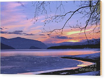 February Sunset 2 Wood Print by Victor K