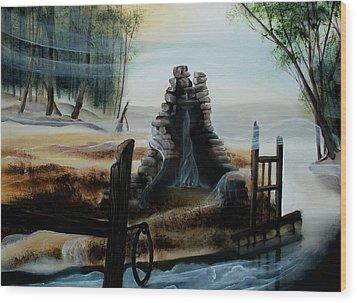 February Thaw Wood Print by Kathleen Romana
