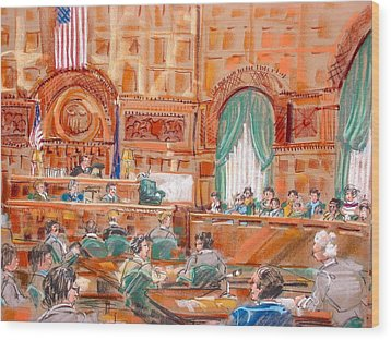 Federal Court Wood Print by Les Leffingwell