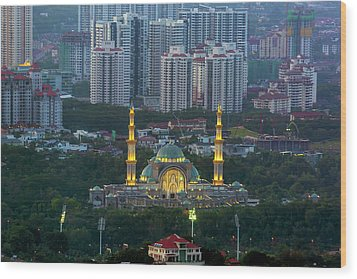 Federal Territory Mosque Wood Print by David Gn