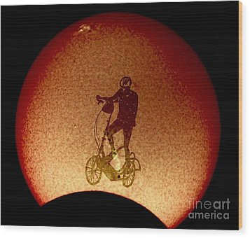 Feel The Burn, Elliptigo Eclipse Wood Print