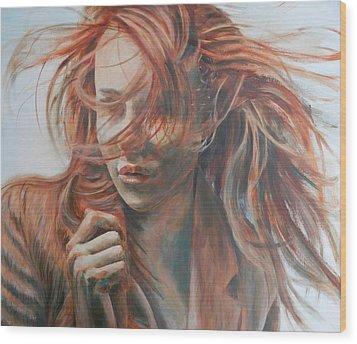 Feel The Wind Wood Print