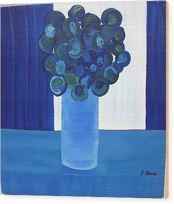 Feeling Blue Wood Print by Edmund Akers