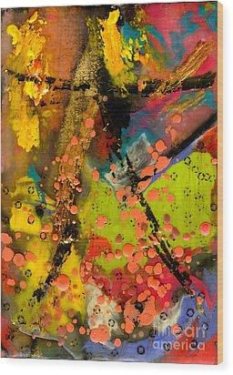Feeling Free Wood Print by Angela L Walker