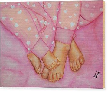 Feet Fete Wood Print by Joni McPherson
