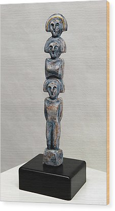 Female Figurine - Goddess Worship - Matronen - Matrone - Matrones - Matron - Nettersheim Eifel  Wood Print by Urft Valley Art