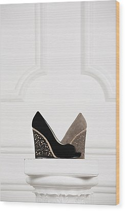 Wood Print featuring the photograph Female Shoes by Andrey  Godyaykin