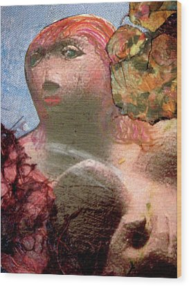 Femininity Wood Print by Gail Butters Cohen