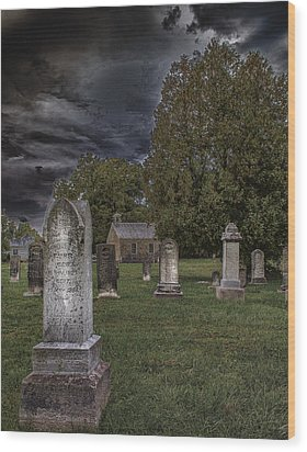 Femme Osage Cemetery Wood Print by Bill Tiepelman