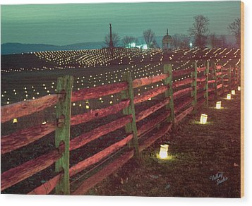 Fence And Luminaries 11 Wood Print by Judi Quelland