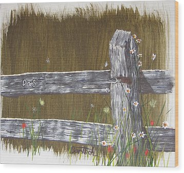 Fence D And S Wood Print