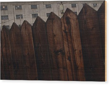 Wood Print featuring the photograph Fence by Jez C Self