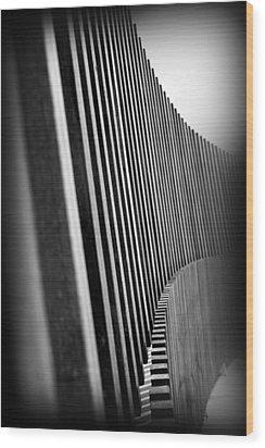 Fence Wood Print by Lucas Boyd