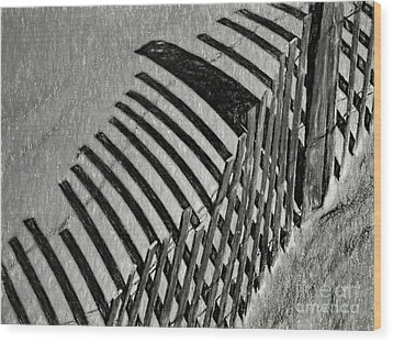 Fenced Wood Print
