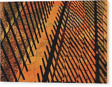 Fenced Framework Wood Print