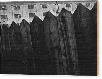 Wood Print featuring the photograph Fenced In Or Out by Jez C Self