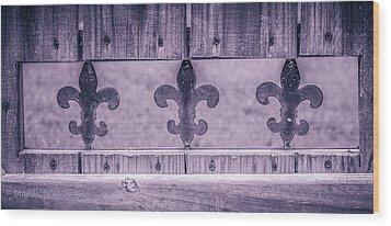 Fenced In Wood Print by Stefanie Silva