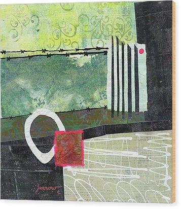 Fences Wood Print by Sue Furrow