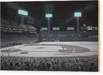 Fenway Infrared Wood Print by James Walsh