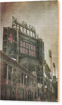 Fenway Park Billboard - Boston Red Sox Wood Print by Joann Vitali