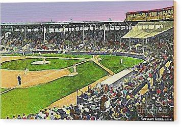 Fenway Park In Boston Ma In 1940 Wood Print by Dwight Goss
