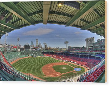 Fenway Park Interior  Wood Print by Joann Vitali