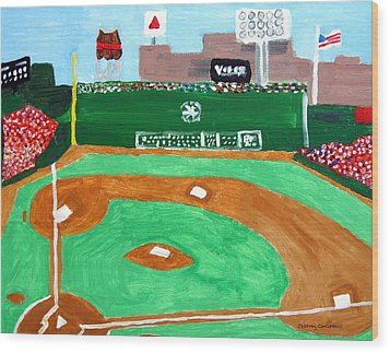 Fenway Park Wood Print by Jeff Caturano
