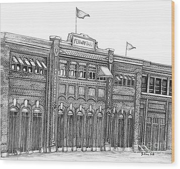 Fenway Park Wood Print by Juliana Dube