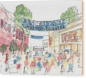 Fenway Park Wood Print
