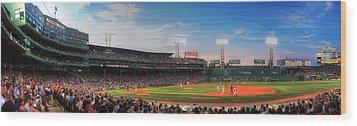 Fenway Park Panoramic - Boston Wood Print