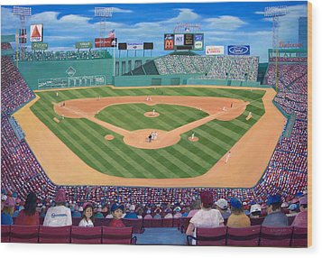 Fenway Park Wood Print by Richard Ramsey