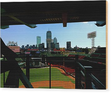 Wood Print featuring the photograph Fenway Park, Xi  by Iconic Images Art Gallery David Pucciarelli