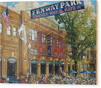 Fenway Summer Wood Print by Gregg Hinlicky