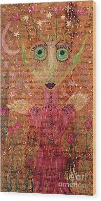 Fern Wood Print by Julie Engelhardt