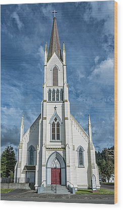 Ferndale Catholic Church Wood Print by Greg Nyquist