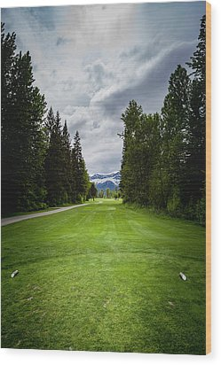 Wood Print featuring the photograph Fernie Tee Box by Darcy Michaelchuk