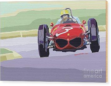 Ferrari 156 Dino 1962 Dutch Gp Wood Print by Yuriy  Shevchuk