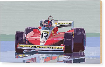 Ferrari 312 T3 1978 Canadian Gp Wood Print by Yuriy  Shevchuk