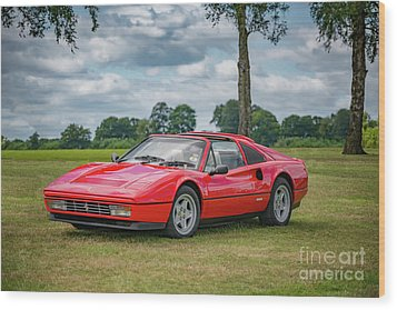 Wood Print featuring the photograph Ferrari 328 Gts by Adrian Evans