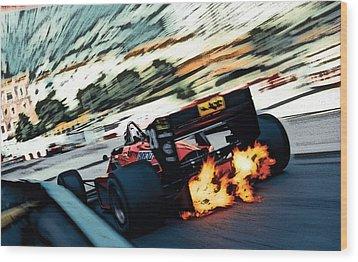 Ferrari 156/85 V6 Wood Print