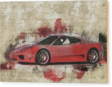 Wood Print featuring the photograph Ferrari 430  by Joel Witmeyer