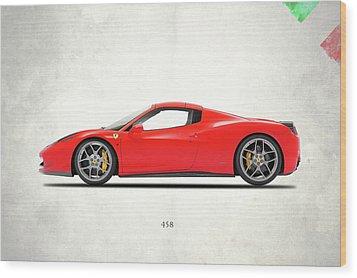 Ferrari 458 Italia Wood Print