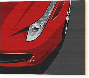 Ferrari 458 Italia Wood Print by Michael Tompsett