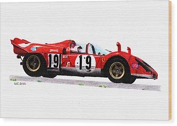 Ferrari 512s Mario Andretti 1970 Wood Print by Ugo Capeto