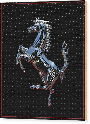 Ferrari Emblem 2 Wood Print